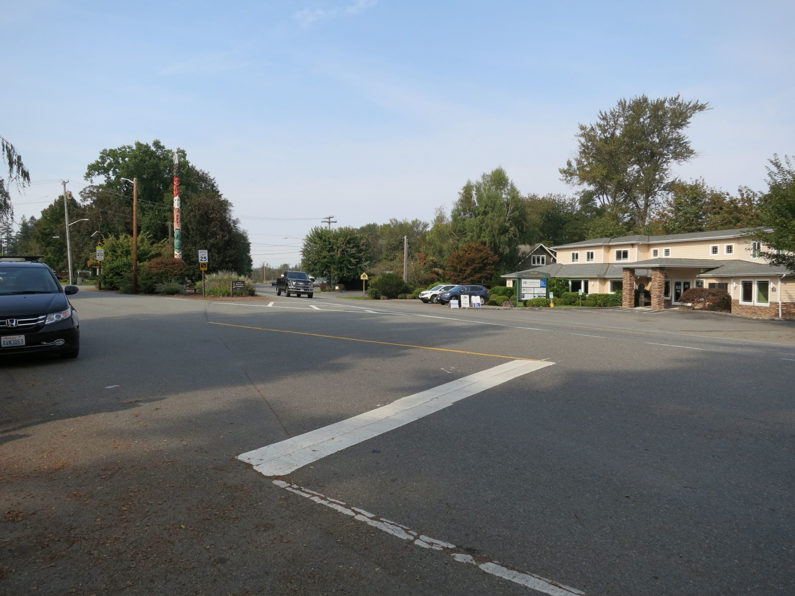 Image of SR 202 at the intersection of Southeast 42nd Street/Southeast 334th Place in Fall City.