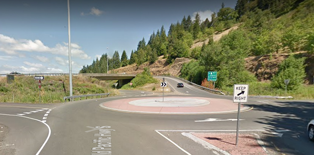 Roundabout at the SR 432/I-5 Kelso Drive/Longview Interchange